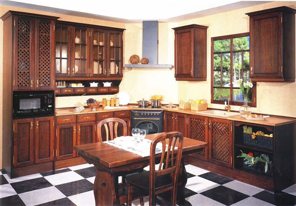 Cocina madera roble 20 muebles san miguel for Zapateros de madera de roble